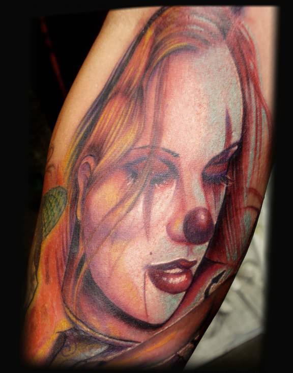 clown tattoos photo - 19