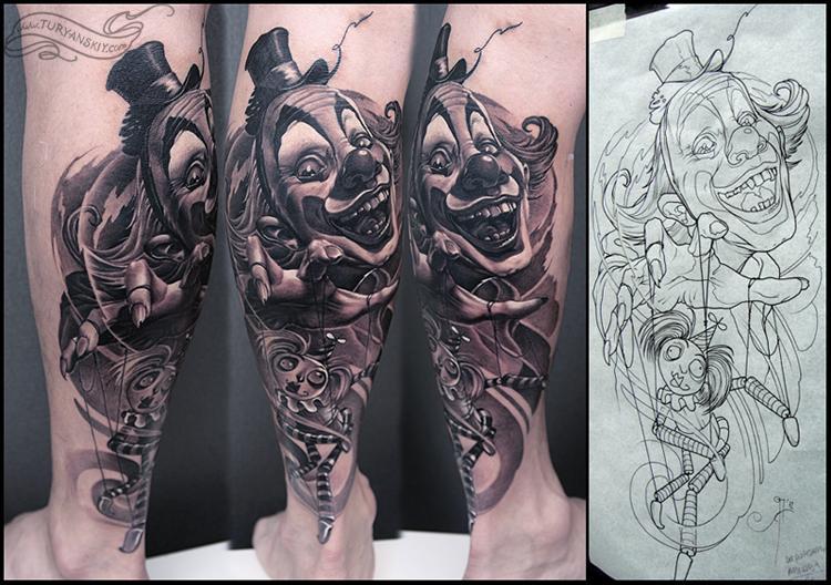 clown tattoos photo - 21