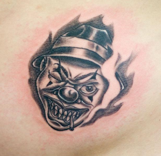 clown tattoos photo - 28