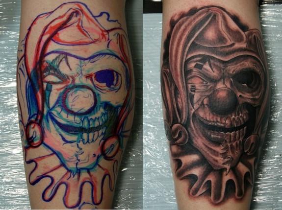 clown tattoos photo - 30