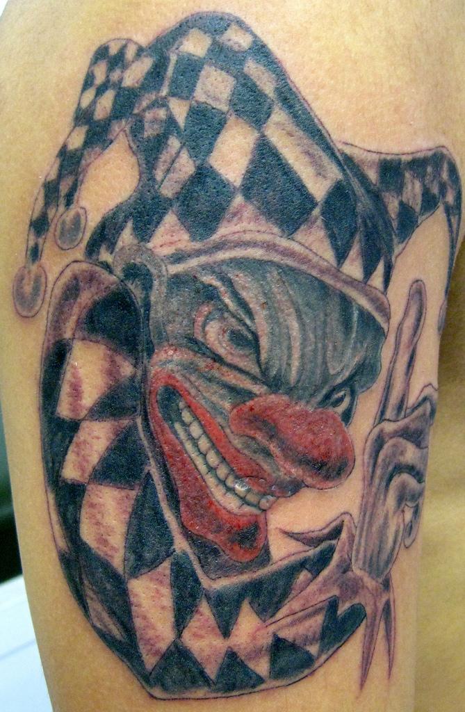 clown tattoos photo - 5
