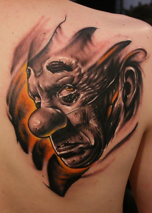 clown tattoos photo - 7