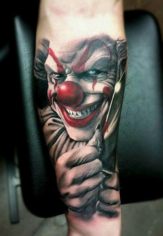 clown tattoos photo - 8