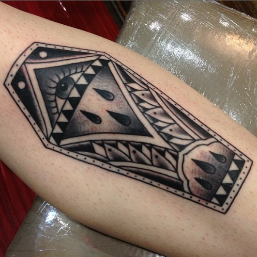 coffin tattoos photo - 11