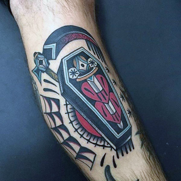 coffin tattoos photo - 23