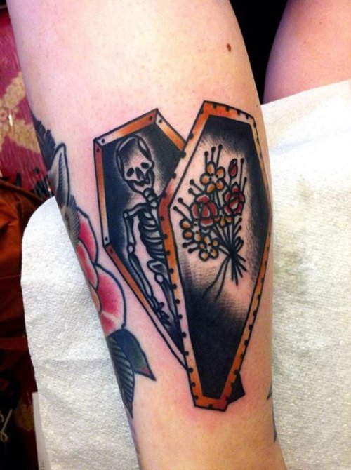 coffin tattoos photo - 27