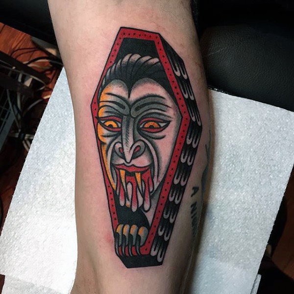coffin tattoos photo - 28