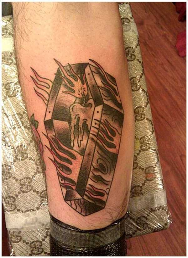 coffin tattoos photo - 6