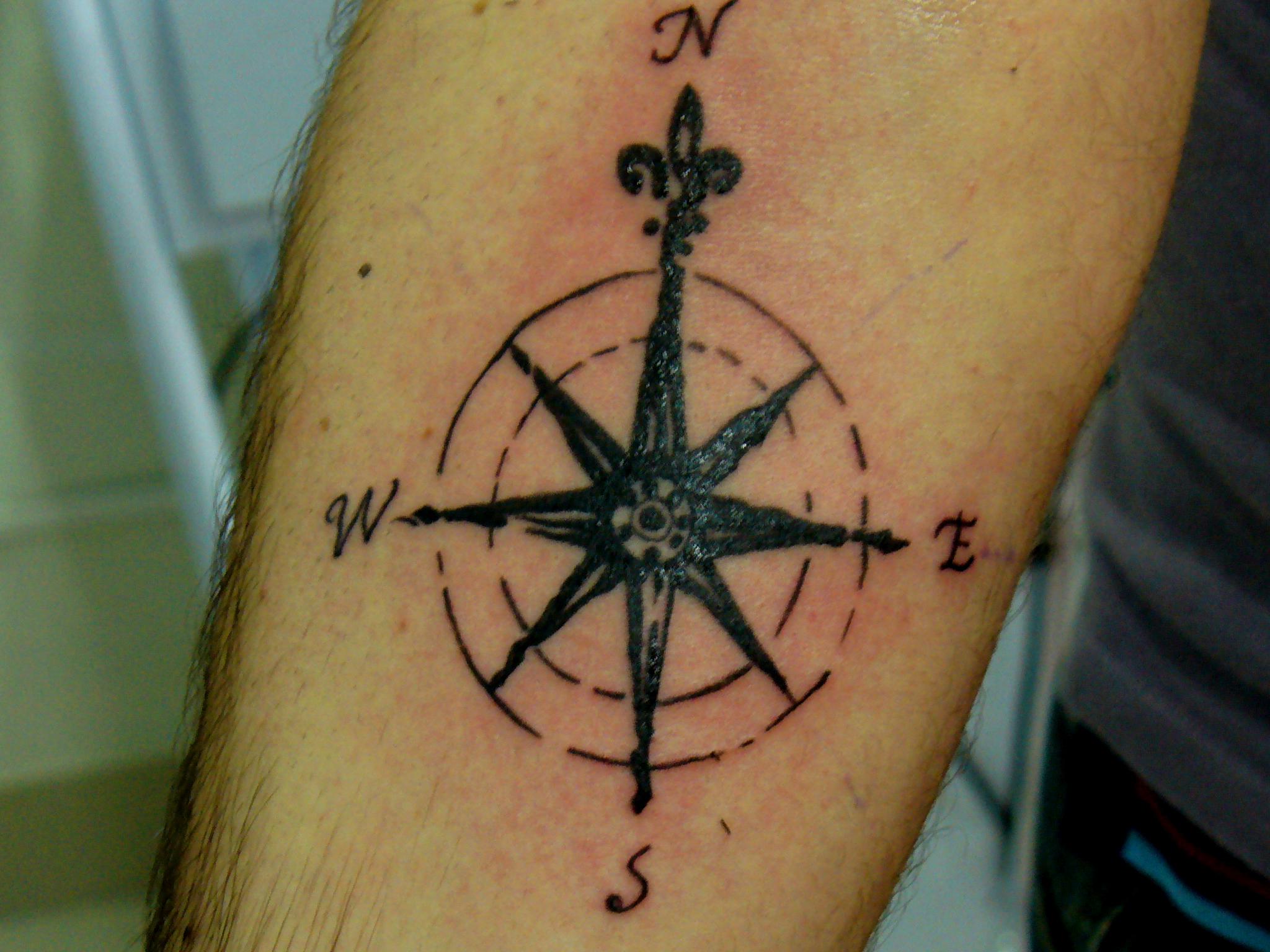 compass tattoos photo - 1