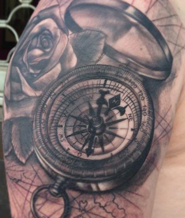 compass tattoos photo - 14