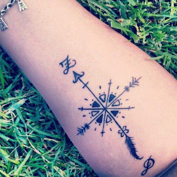 compass tattoos photo - 18