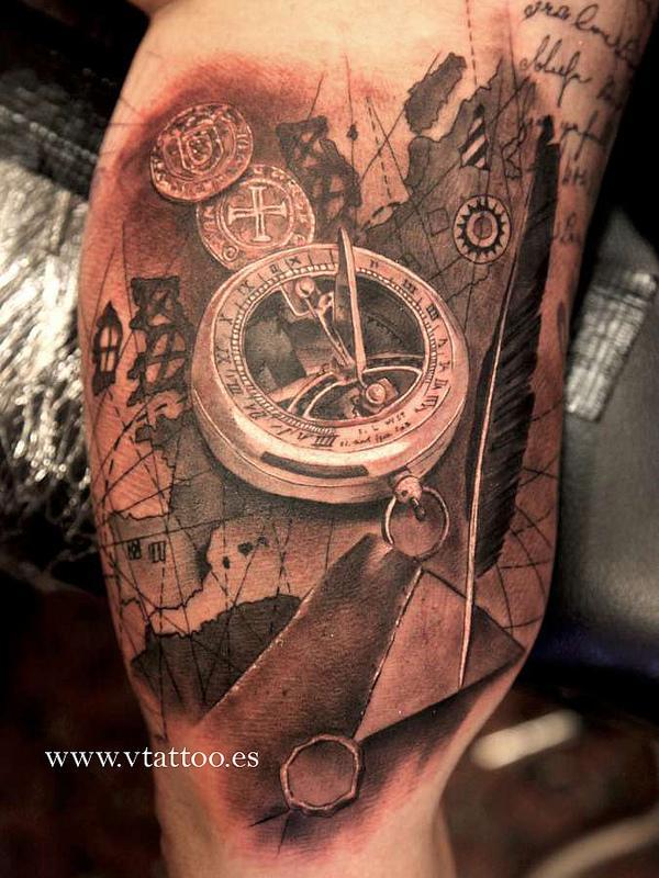 compass tattoos photo - 21