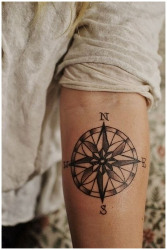 compass tattoos photo - 23