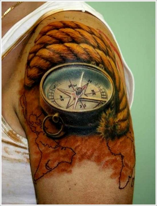 compass tattoos photo - 25