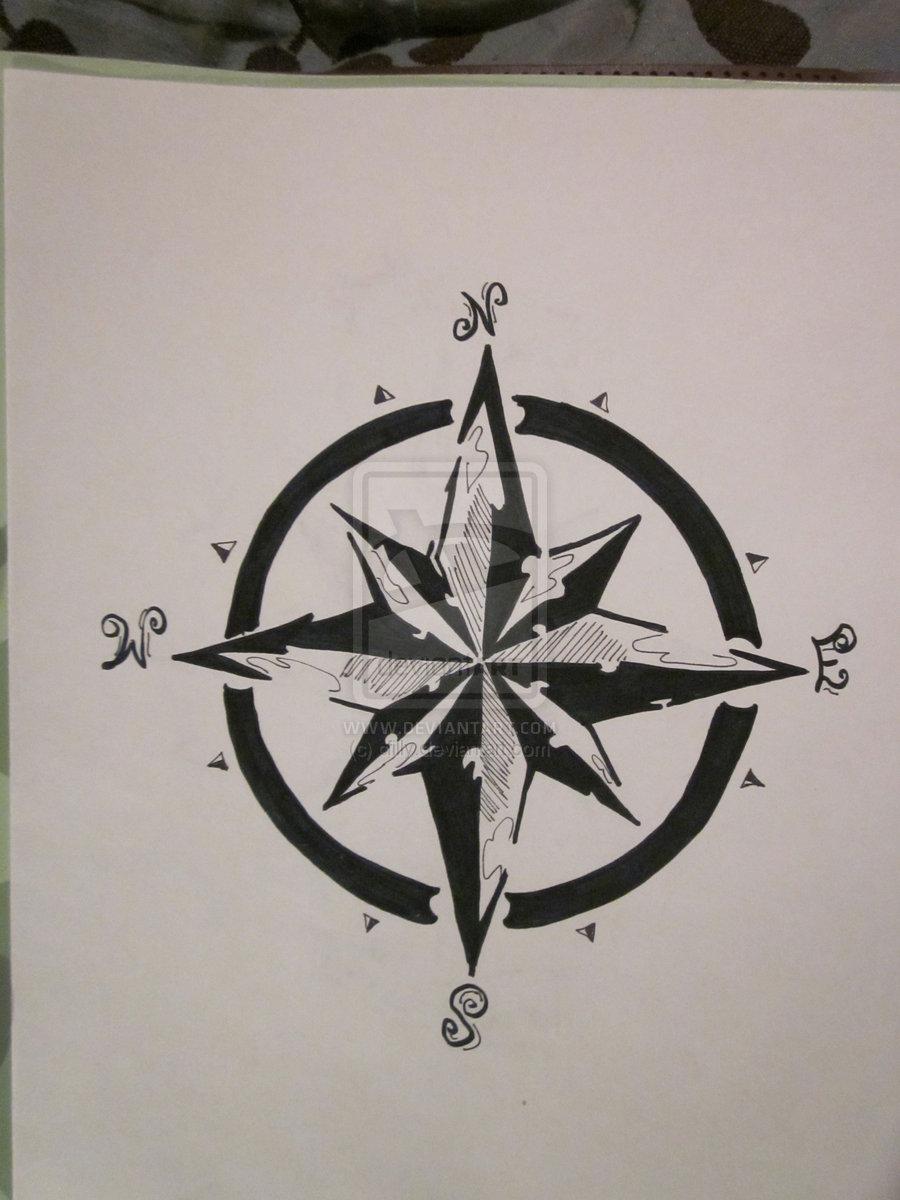 compass tattoos photo - 27