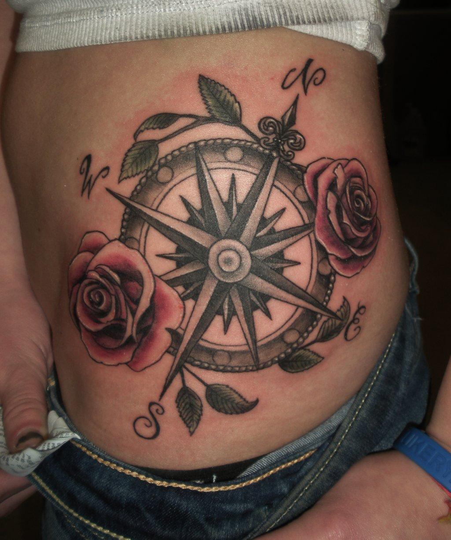 compass tattoos photo - 28