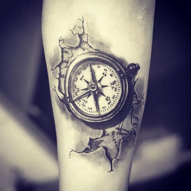compass tattoos photo - 32