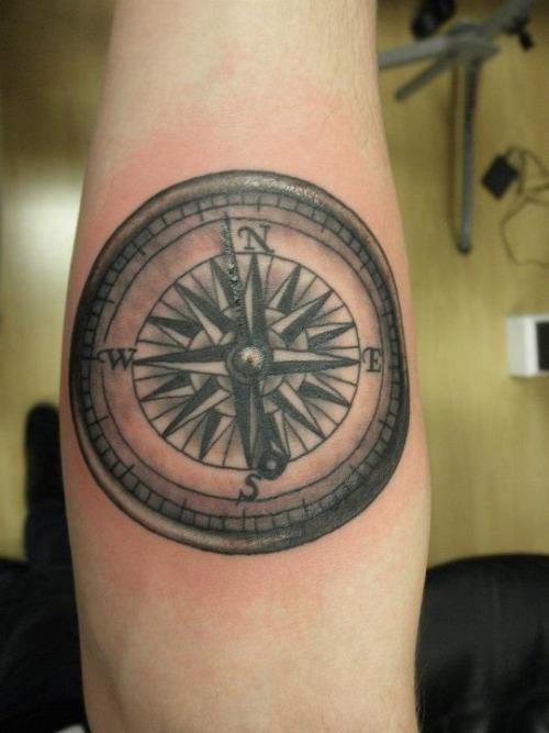 compass tattoos photo - 34