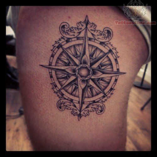 compass tattoos photo - 35