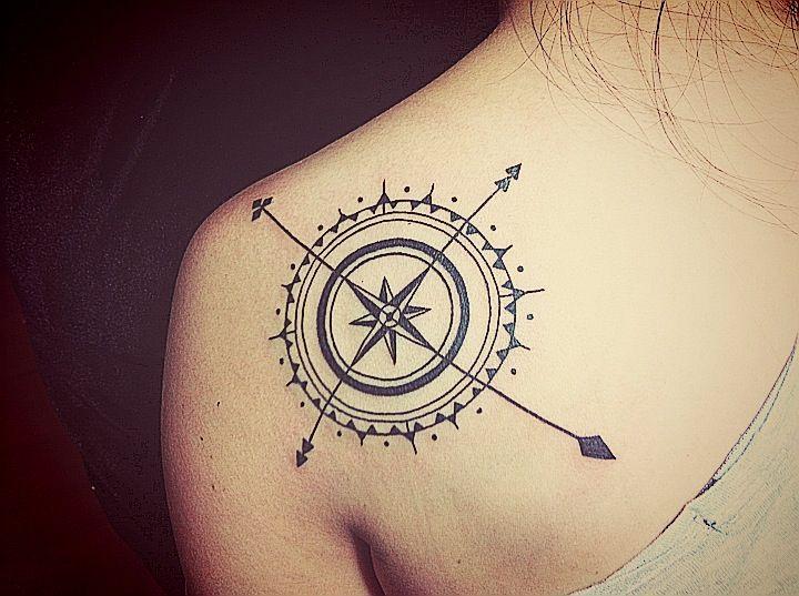 compass tattoos photo - 4