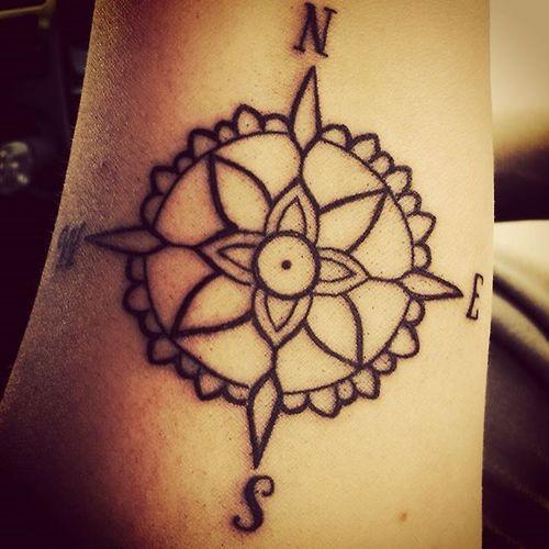 compass tattoos photo - 40