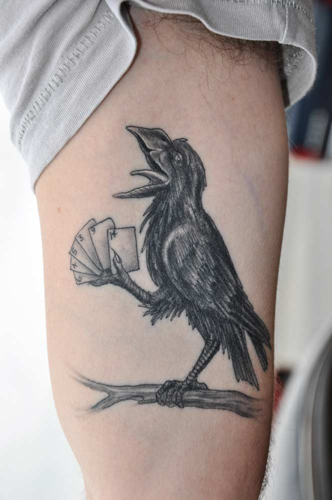 crow tattoos photo - 19