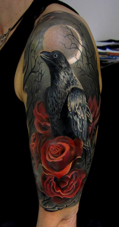crow tattoos photo - 22