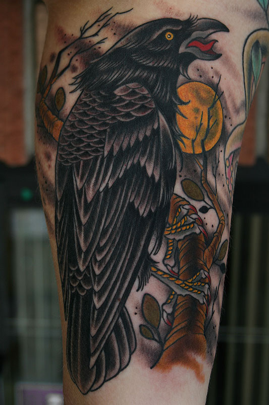 crow tattoos photo - 23