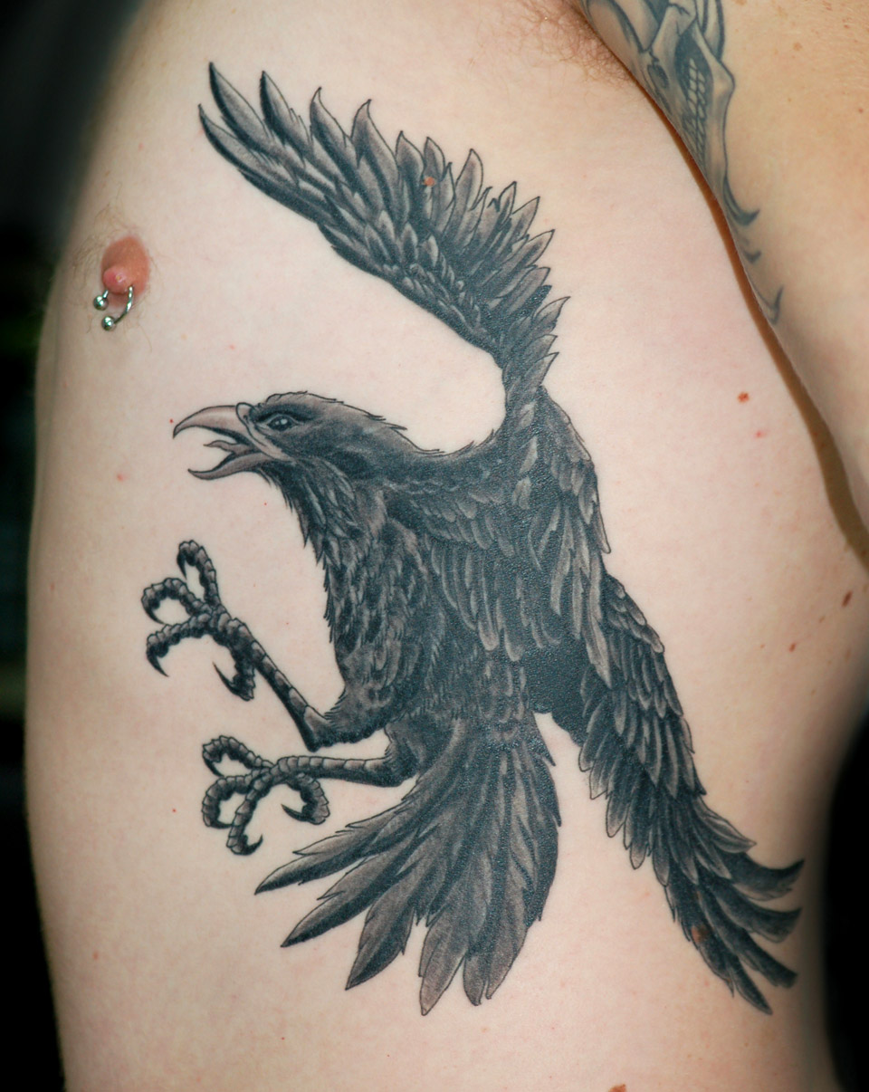 crow tattoos photo - 24