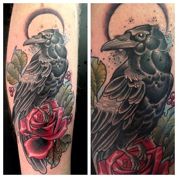 crow tattoos photo - 25