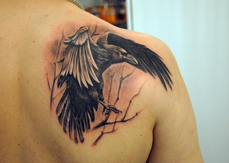 crow tattoos photo - 4