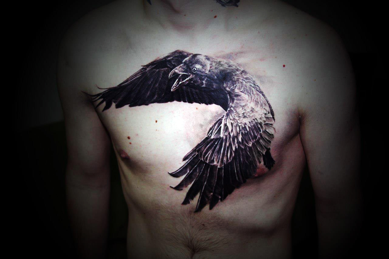 crow tattoos photo - 5