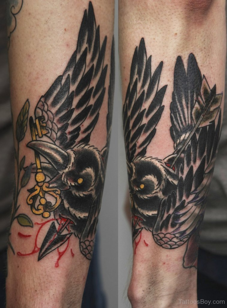 crow tattoos photo - 8