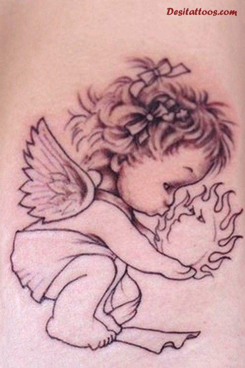 cupid cherub tattoos photo - 1