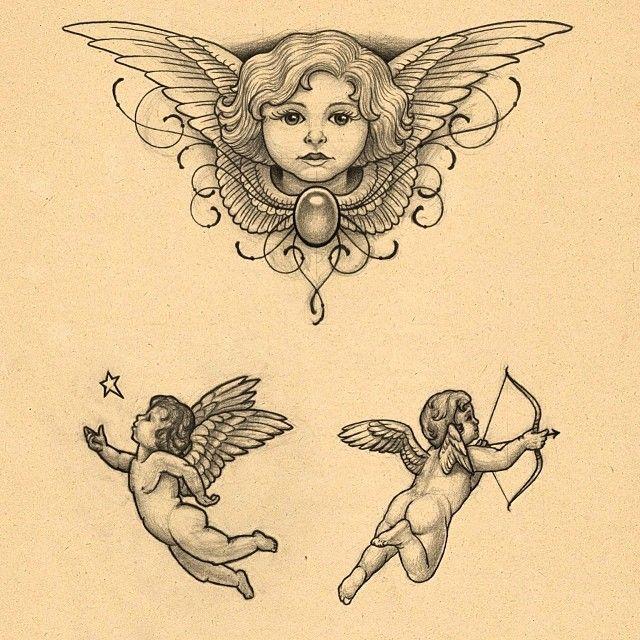cupid cherub tattoos photo - 33