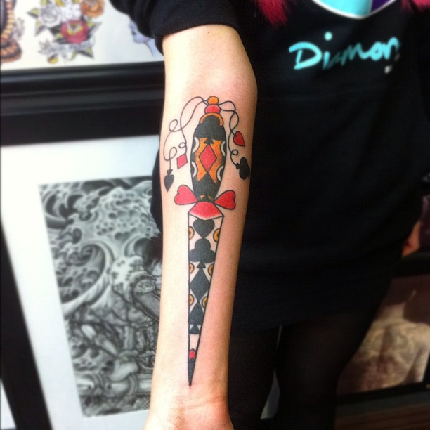 dagger tattoos photo - 21