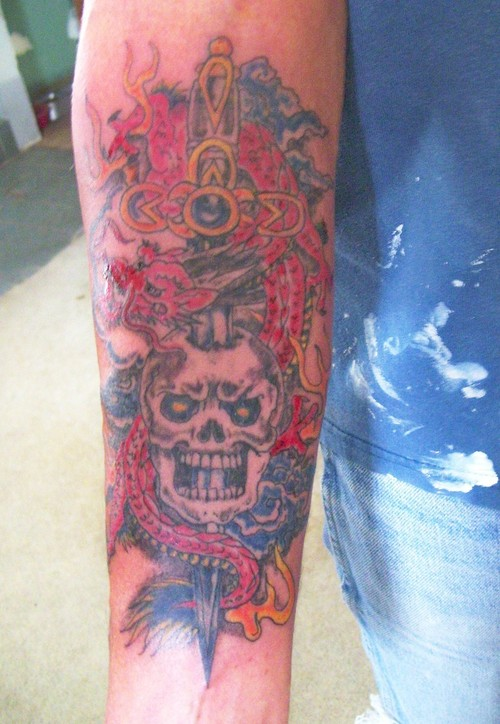 dagger tattoos photo - 38