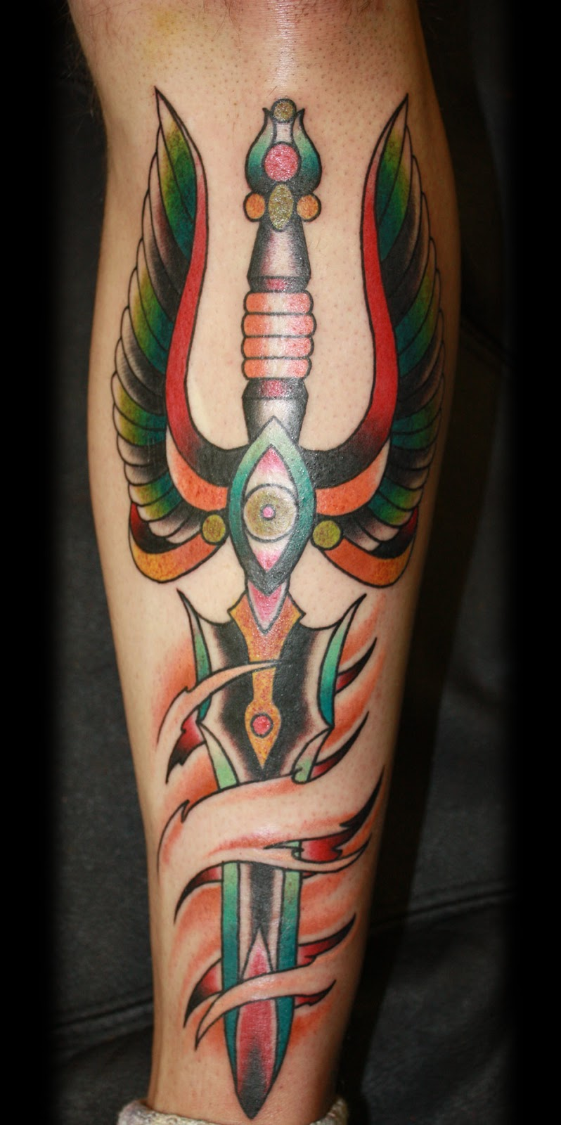 dagger tattoos photo - 5