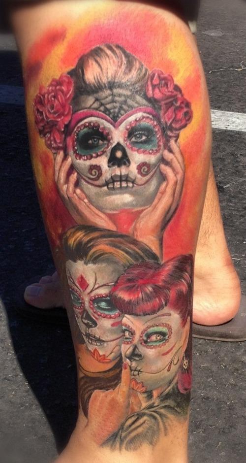 dia de los muertos tattoos photo - 11