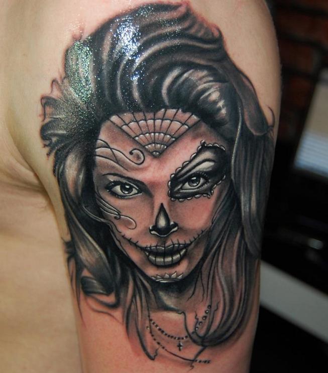 dia de los muertos tattoos photo - 12