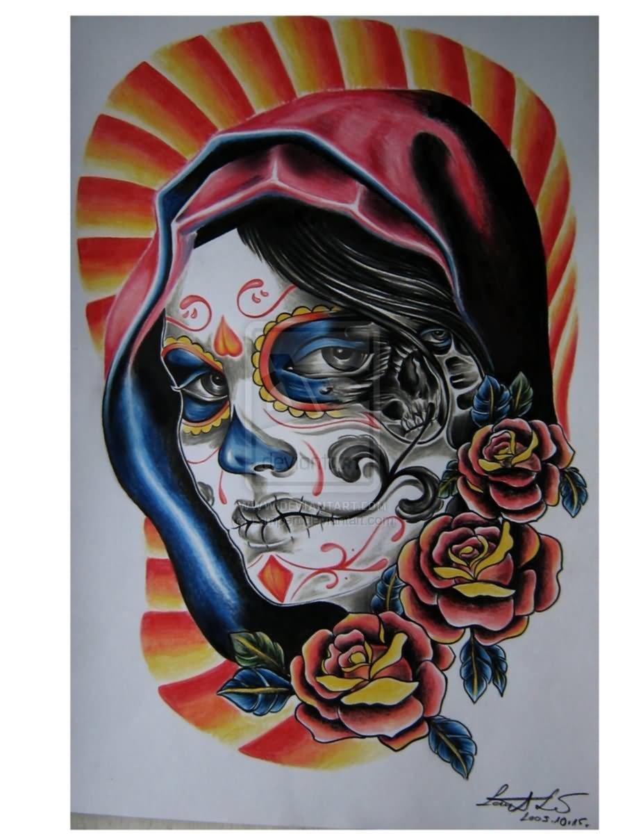 dia de los muertos tattoos photo - 14