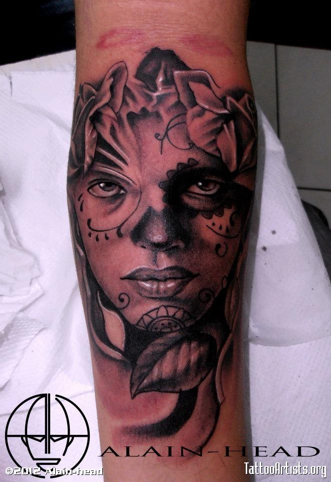 dia de los muertos tattoos photo - 15
