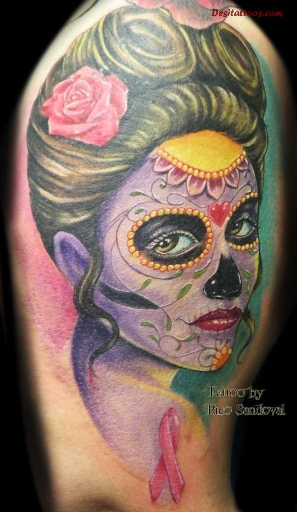 dia de los muertos tattoos photo - 18