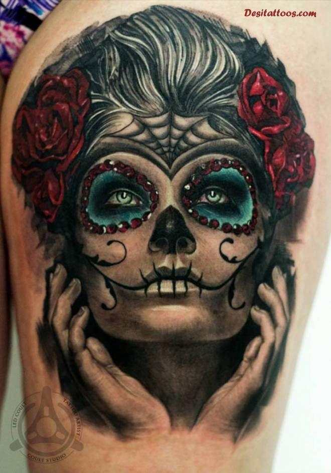 dia de los muertos tattoos photo - 2