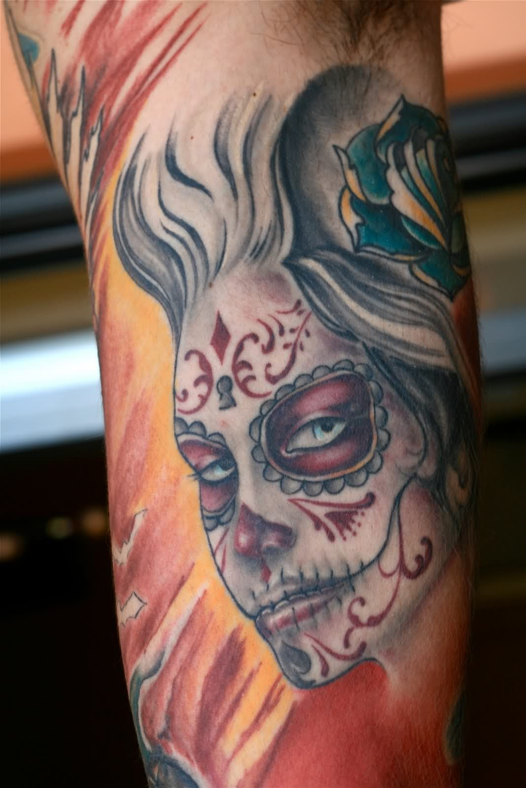 dia de los muertos tattoos photo - 7
