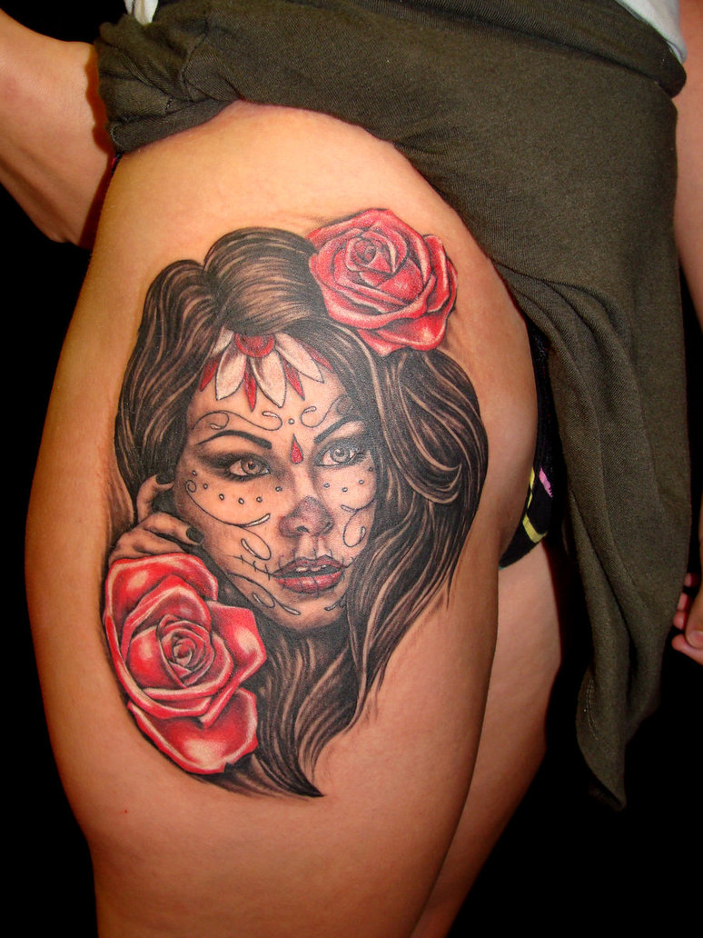 dia de los muertos tattoos photo - 8
