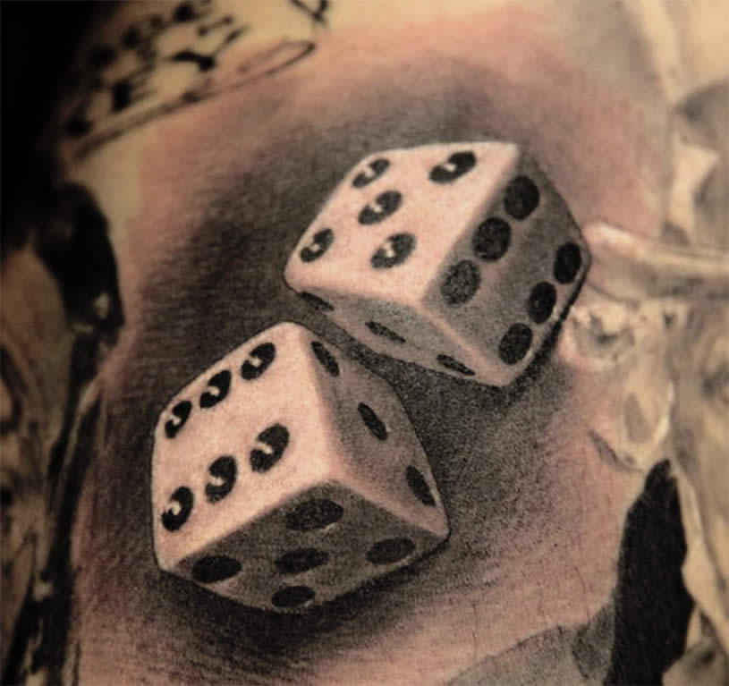 dice tattoos photo - 1