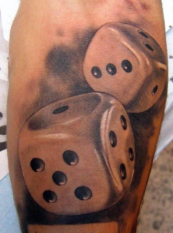 dice tattoos photo - 11
