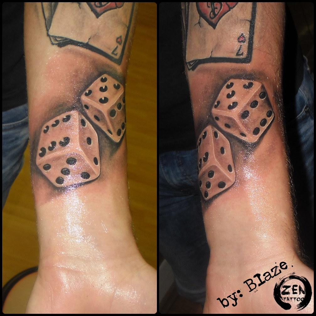dice tattoos photo - 12