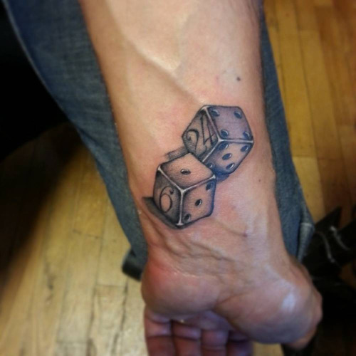 dice tattoos photo - 15